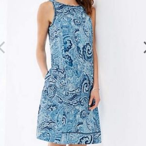 J Jill Love Linen Paisley Dress Medium Tall